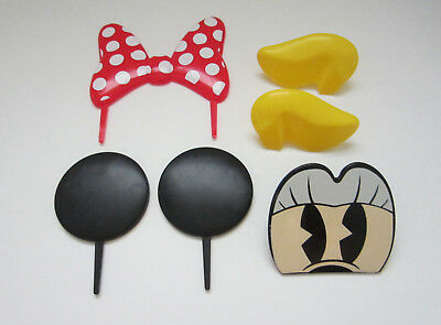 1 Disney Minnie Mouse Decoset Set Birthday Cake Topper Party Decor Decoration - Minnie Mouse Cake Decoration