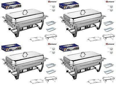 Set Of 4, Single Compartment 9.5L Chafing/Buffet/Party Dishes or Food Warmer  Single Compartment Dish