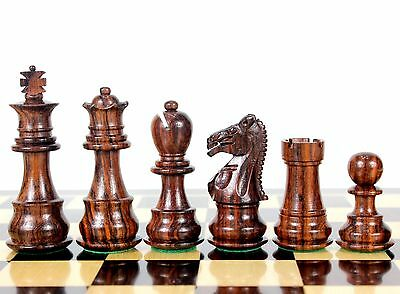 "Rosewood Galaxy Staunton Wooden Chess Set Pieces King size 3"" Triple Weighted"