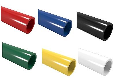 (Coloured PVC Pipe 1m Furniture Grade: Blue Red Black Green Yellow White 26.7mm)