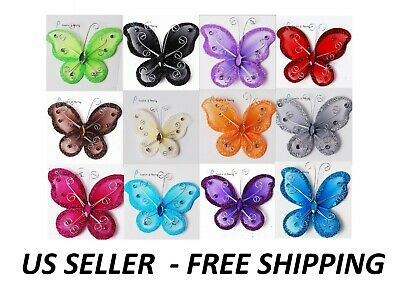 72 or 144 pcs. Nylon Organza Butterfly Wedding Quince & Party Decor 1 2 3 Inch](Butterfly Party Decor)