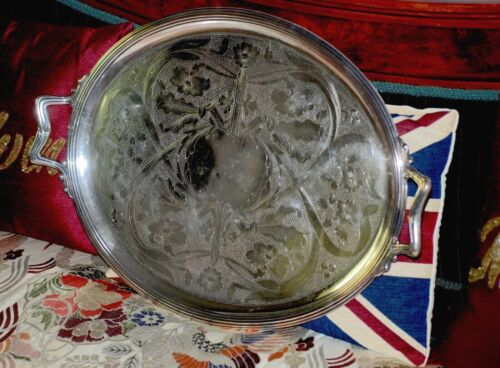 Authentic French Art Nouveau by CHRISTOFLE  Large Oval Tray  c.1915
