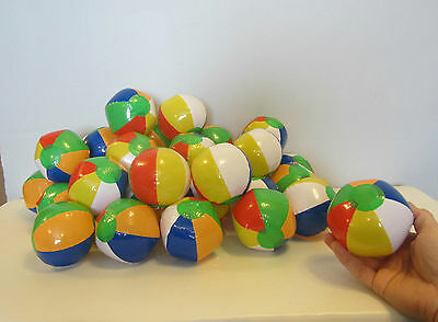 6 NEW MINI BEACH BALLS MULTI COLORED 5