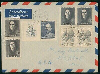 Mayfairstamps Czechoslovakia 1948 Jicin to US Kinbrae MN Airmail cover wwo1525