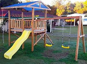 Cubby House, Slide, Fort, Play Ground Equipment, Kids Swing Set Widgee Gympie Area Preview