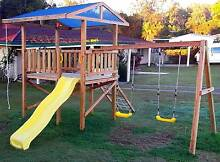 Cubby House, Slide, Fort, Play Ground Equipment, Kid's Swing Set Gympie Area Preview