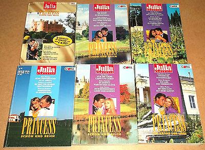 Julia Exklusiv Princess -  = 18 Romane in 6 verschiedenen Taschenbüchern  po350