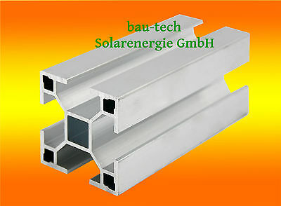 16m Montageprofil 40 x 40mm Nut 10 Alu Solar Photovoltaik Profil Montage Schiene