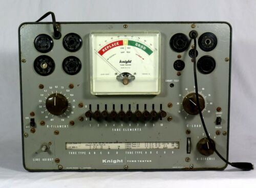 Vintage KNIGHT TUBE TESTER Allied Corp