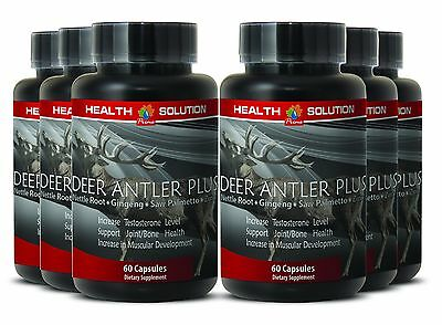 Best Male Sexual Pills - Deer Antler Plus 550mg - Saw Palmetto Oil