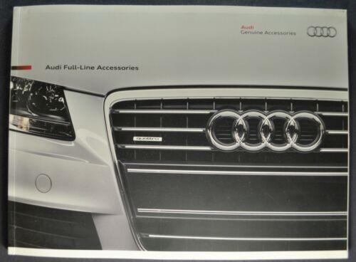 2009-2010 Audi Accessories 52pg Brochure TT A3 A4 A5 A6 A8 Q5 Q7 Excellent Orig