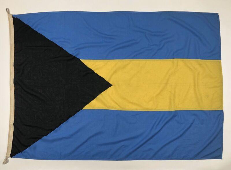 Vintage Bahamas Flag Nautical Cloth Old Boat Bahamian Tropical Banner Travel