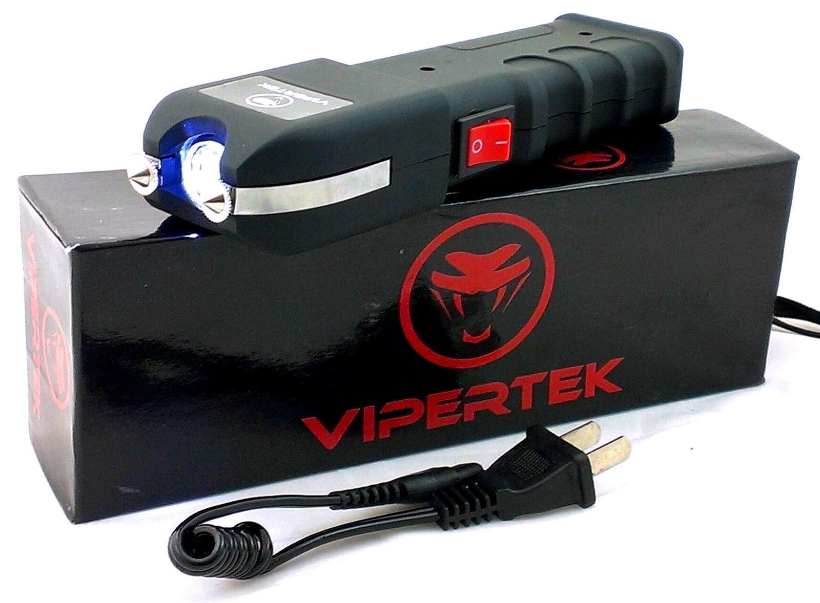 VIPERTEK VTS-989 - 80 Billion Volt Self Defense Stun Gun LED