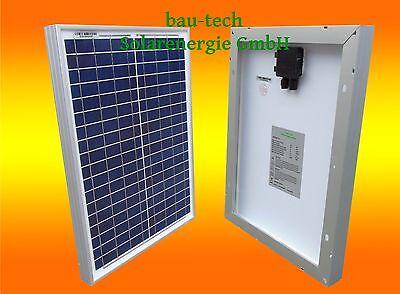 Solarmodul 12V 20W Solarpanel Solarzelle Polykristallin für Camping Garten