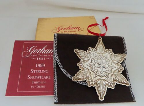 Gorham 1999 Sterling Silver Christmas Snowflake Ornament - 80891