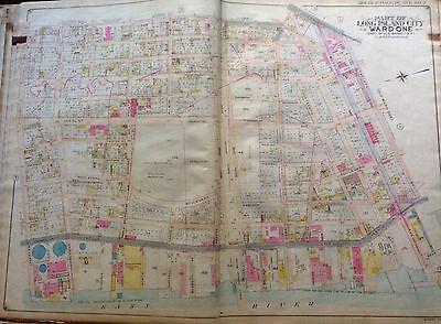 ORIG 1908 BELCHER HYDE LI CITY P.S. 4 QUEENSBORO BRIDGE QUEENS NYC ATLAS MAP