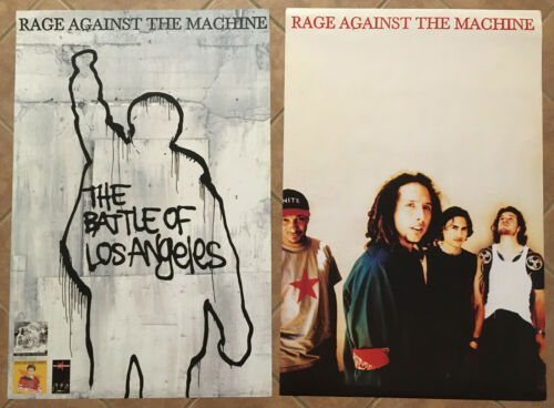 RAGE AGAINST THE MACHINE Rare 1999 DOUBLE SIDED PROMO POSTER 4 Battle CD 24x36