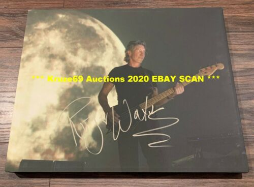 ROGER WATERS Auto SIGNED 16x20 CANVAS Dark SIDE of MOON *** JSA FULL LETTER ***