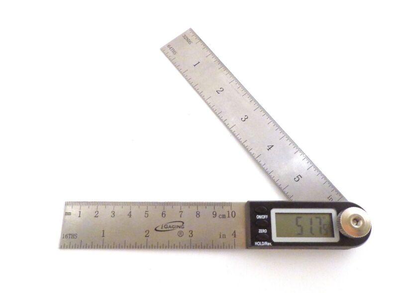 """7"""" Electronic Digital Protractor Goniometer Angle Finder Miter Gauge iGaging"""