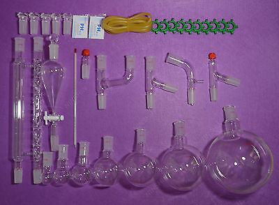 24402000mlnew Chemistry Glassware Kitlaboratory Glassware Kit32pcs