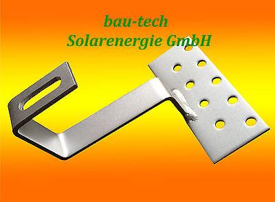 1 Edelstahl - Dachhaken A2 für Dachsteine, Dachpfannen, Solar PV Montage Profil