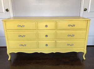 REDUCED Refinished French Provincial Dresser