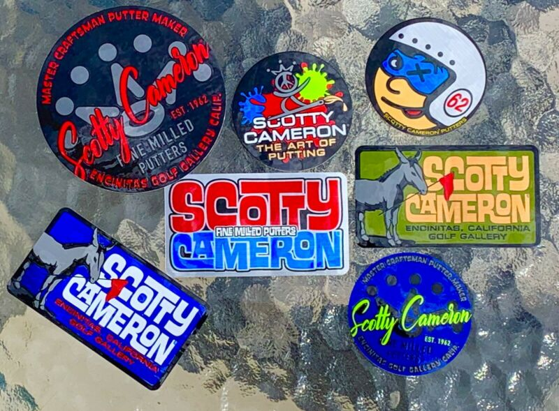 Scotty Cameron Gallery Stickers-7 JOHNNY RACER, JACK The DONKEY, PEACE PAINTER