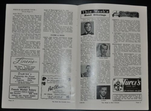 1954 This Week in New Orleans Booklet Apr. 24,1954