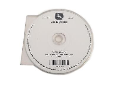 John Deere 325/335/345 Lawn & Garden Tractor Technical Manual CD -