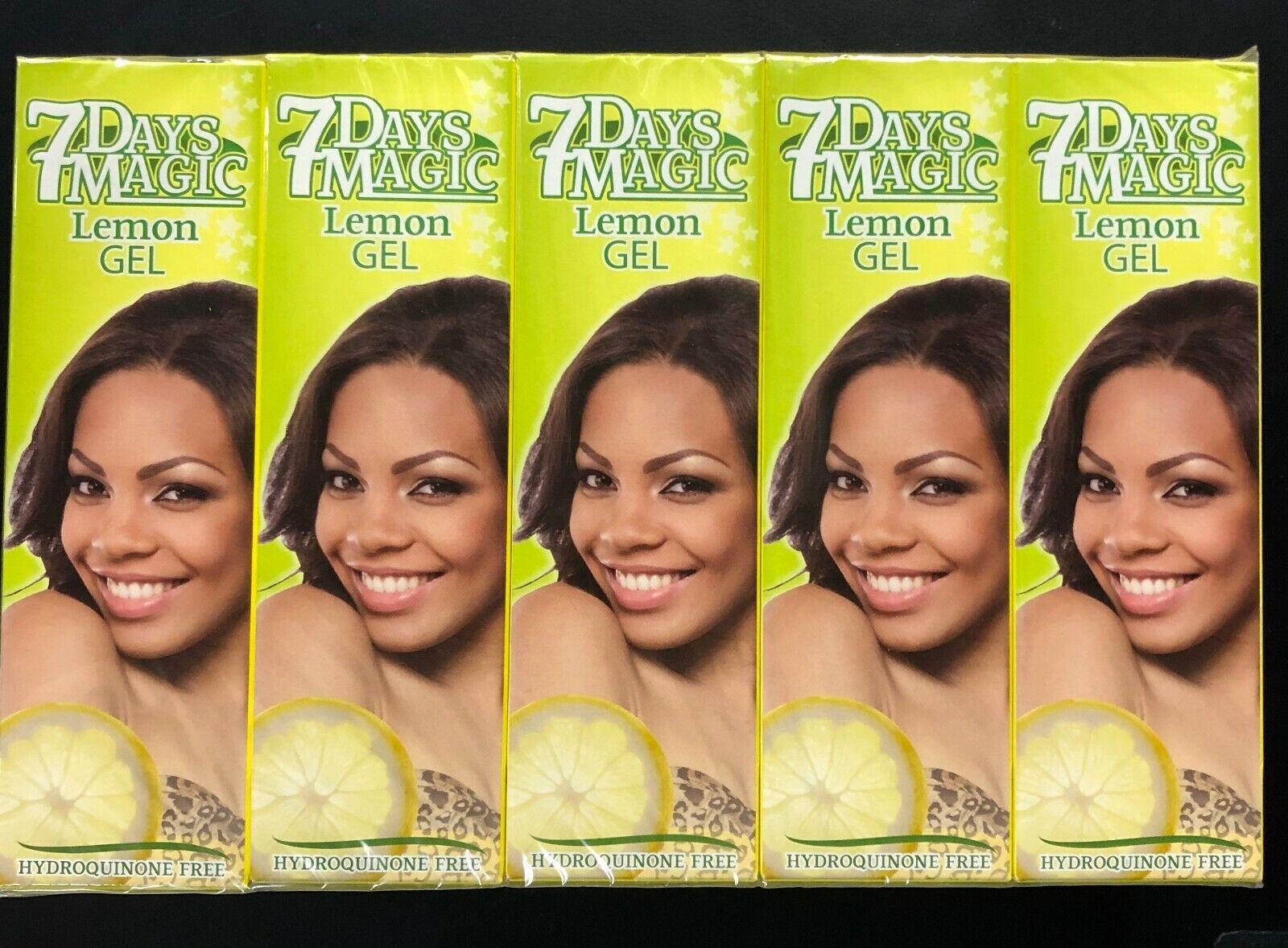 7 days magic lemon gel hydroquinone free