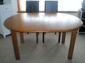 SOLID EXTENDABLE DINING TABLE & CHAIRS Launceston Launceston Area Preview