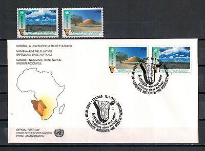 VEREINTE NATIONEN WIEN 1 J UNABH NGIGKEIT NAMIBIAS MINR 114 115 FDC 1991
