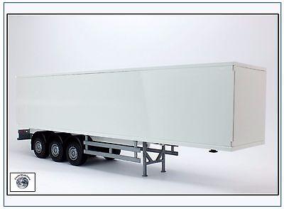 81092 3-achsiger Koffersattelauflieger, weiss, EMEK 1:25, NEU&