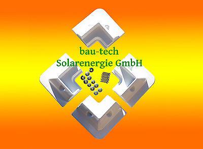 Solarmodul Eckprofile Montageset für Wohnmobil Caravan 4 Eckwinkel Spoiler weiß