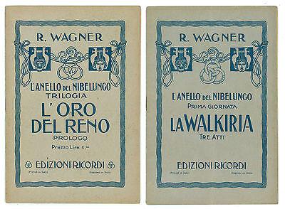 WAGNER L'ANELLO DEL NIBELUNGO L'ORO DEL RENO WALKIRIA SIGFRIDO CREPUSCOLO DEI