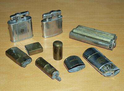 5 Vintage Cigarette Lighters & Roller: UL Seigneur & Park, Evans Tiki Ronson etc