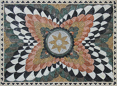 Cut down Floral Decoration Multicolored Flower Home Design Marble Mosaic GEO2520