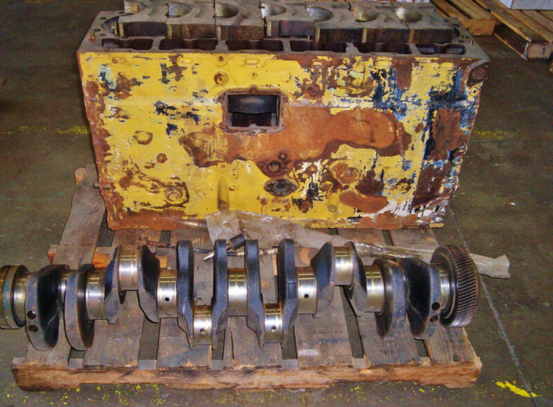 Caterpillar 3406 Cylinder Block & Crankshaft 7n1200 6n3906 4n795