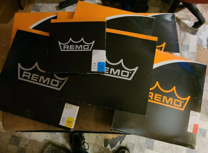 Remo Drum heads (Lot of 8 NEW Drum Heads)