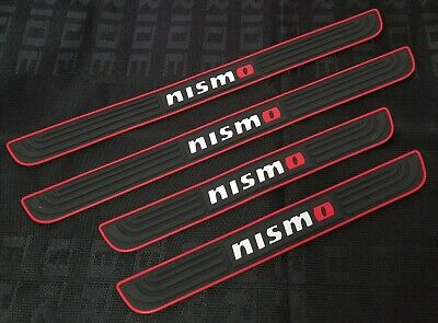 4PCS Nismo Black Rubber Car Door Scuff Sill Cover Panel Step Protector](Door Cover)
