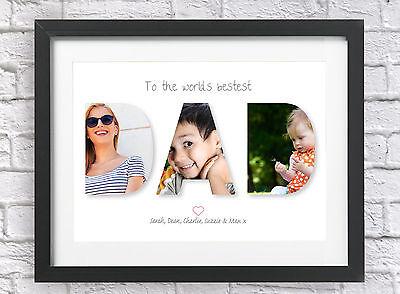Daddy / Dad Present Personalised Photo Print Custom Birthday Christmas Gift Idea ()