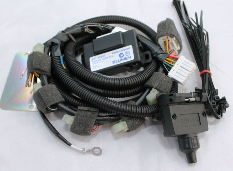 Details about TOYOTA RAV4 TOWBAR WIRING HARNESS 7 PIN FLAT FROM DEC on