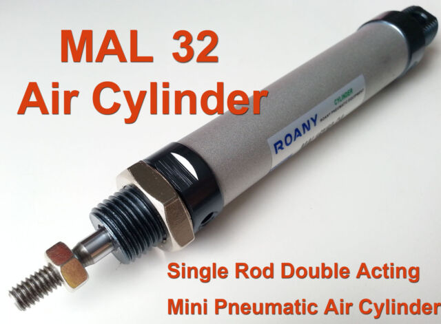 NEW MAL 32mm x 100mm Single Rod Double Acting Mini Pneumatic Air Cylinder 32x100