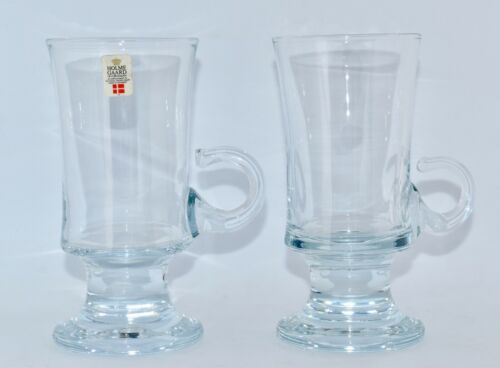 Pair of Vintage HOLMEGAARD Ice Tea/Coffee Glasses with Handle (14.8cm)