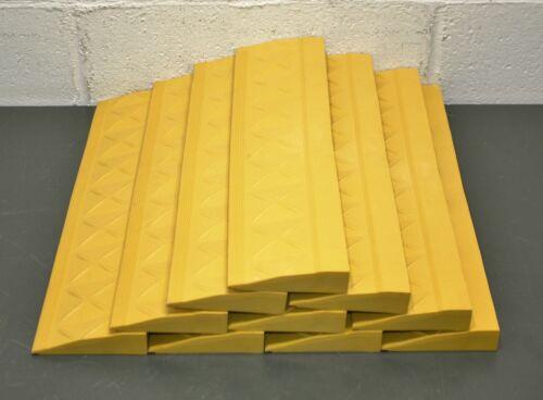 "(10) Ergo Advantage Inc Interlocking Mat Edging A4, Yellow, 18"" x 4"", Female"