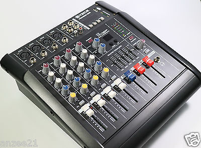 Pro 4 Channel Stage Karaoke Live Mixing console 800W Power Amplifier Mixer