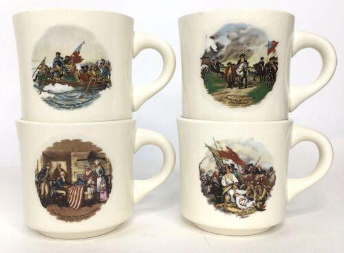 Boy Scout Mugs Lot Of 4 Vintage 1976 Florida Scouting USA Bicentennial Cups