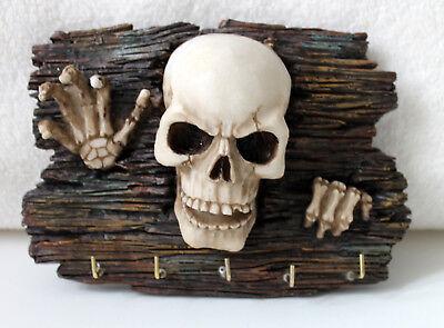 Schlüsselbrett Hakenleiste Totenschädel Scull 18cm (Haken Schlüsselbrett)