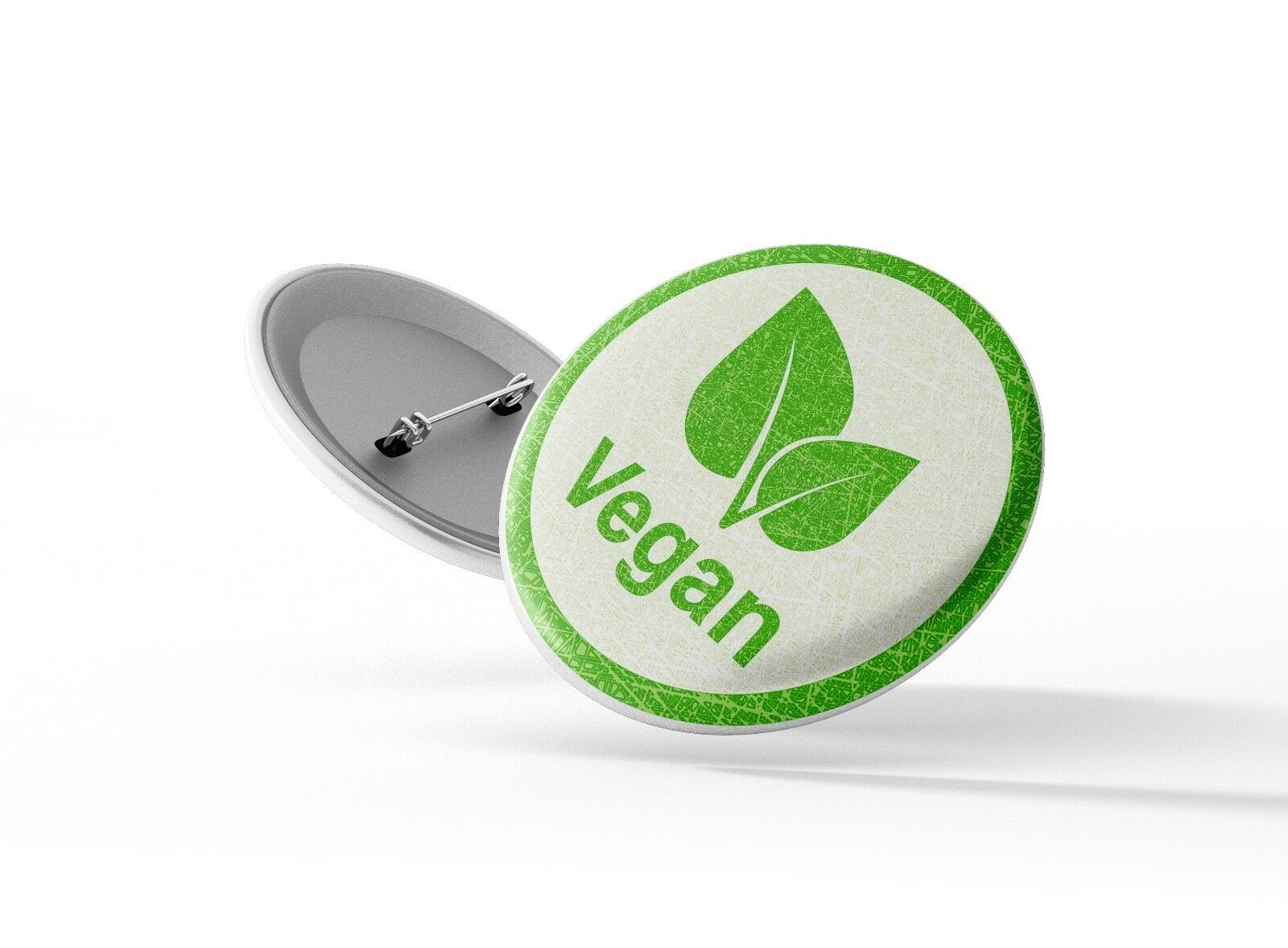 25mm Pin Button Badge Vegetarian Veggie Plant Based Cute Fun Vegan AF 1 Inch