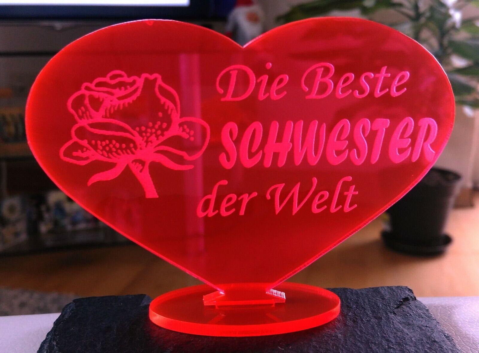 Herz Beste Schwester Muttertag Geschenk Schwester Geburtstag Liebe Ebay